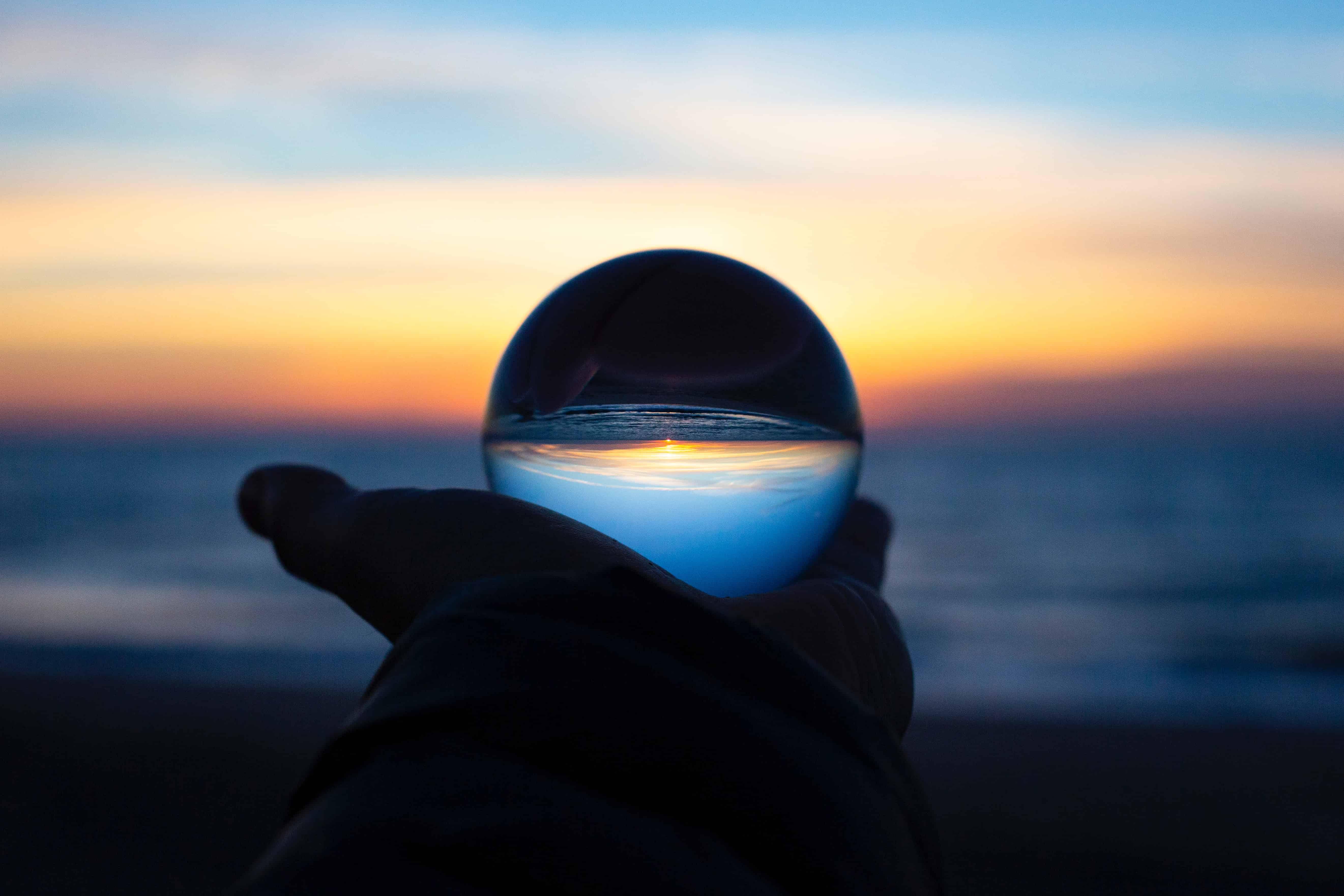 Glass ball and horizon