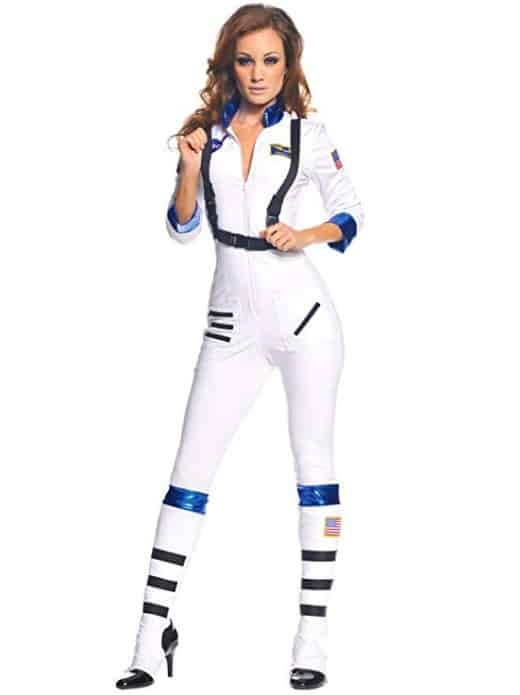 Sexy White Space Costume Women Astronaut 3 Piece Jumpsuit Set