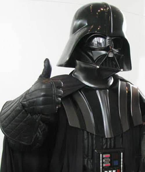 Darth Vader thumbs up Star Wars
