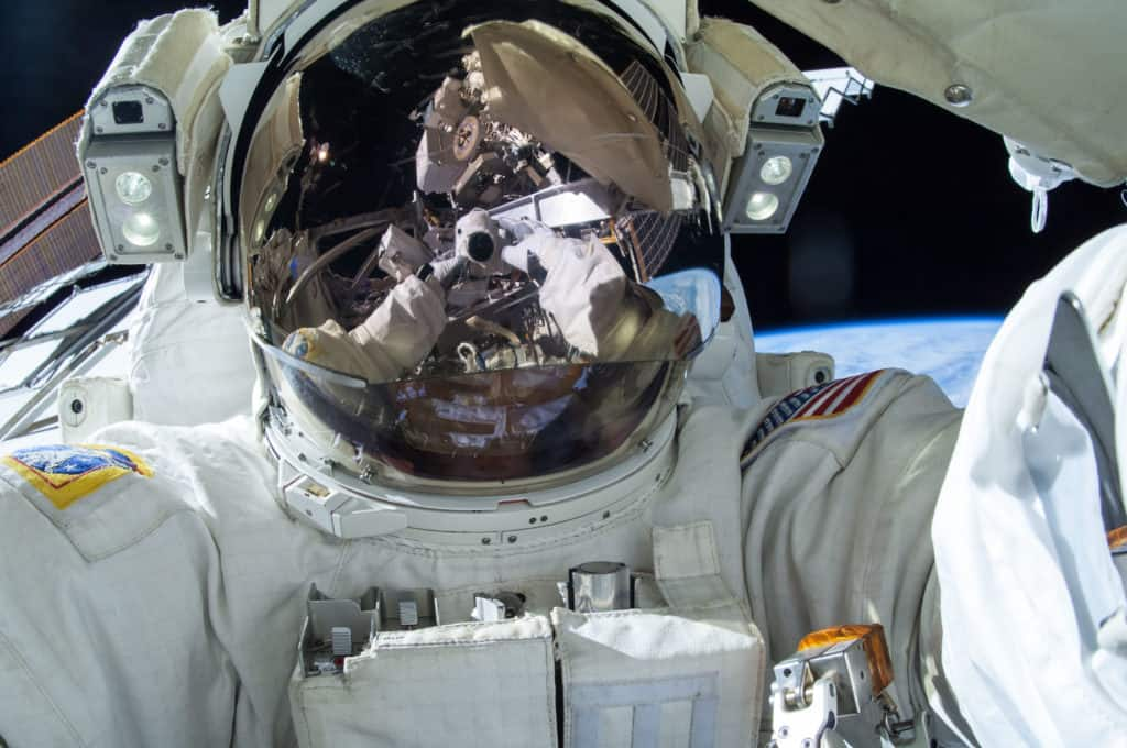 Space selfie by an astronaut